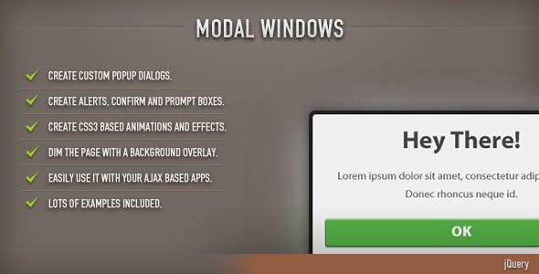Modal Windows (jQuery)