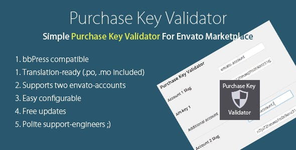 Purchase Verifier for Envato Marketplace