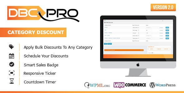 Woocommerce Direct Bulk Category Discount Pro Plugin - CodeCanyon Item for Sale