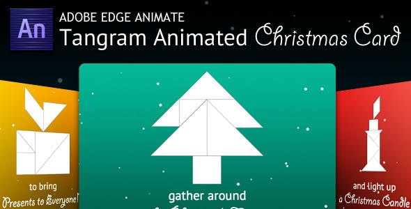 Tangram Animated Christmas Card