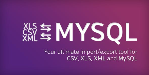 Ultimate DB import/export (CSV-XLS(x)-XML-MySQL)