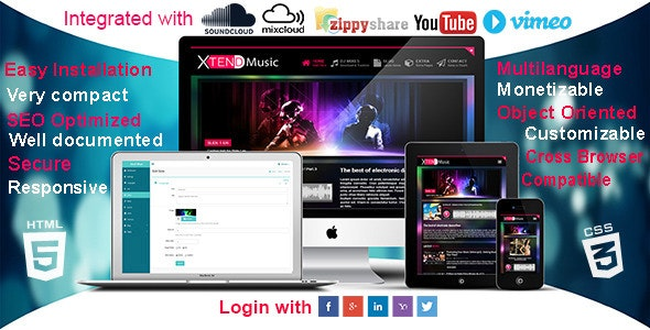 XTEND Music - Multilanguage site for DJs & Band by