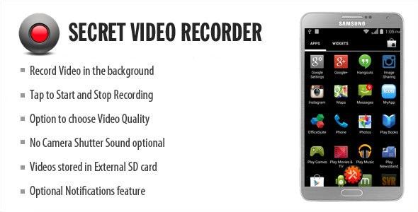 Secret Video Recorder - CodeCanyon Item for Sale