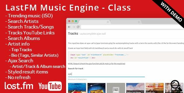 LastFM - Music Engine (incl. YouTube links)