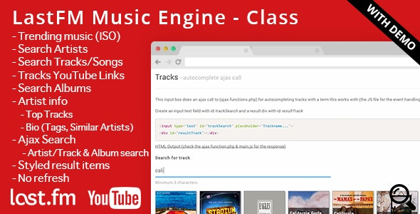 Lastfm Music Engine Incl Youtube Links By Fritz321 Codecanyon
