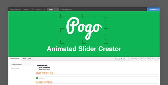 Pogo Animated Slider Creator