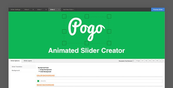 Pogo Animated Slider Creator - CodeCanyon Item for Sale