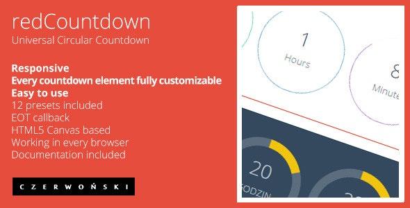 redCountdown - Circular Countdown - CodeCanyon Item for Sale