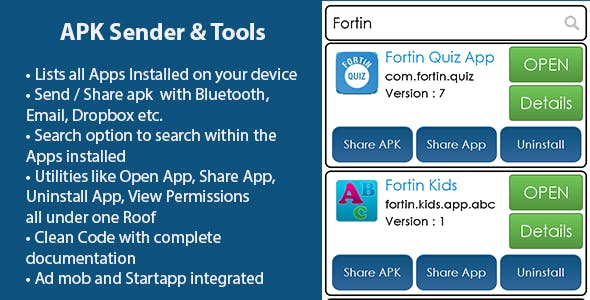 Fortin APK Sender and Tools - Utility App