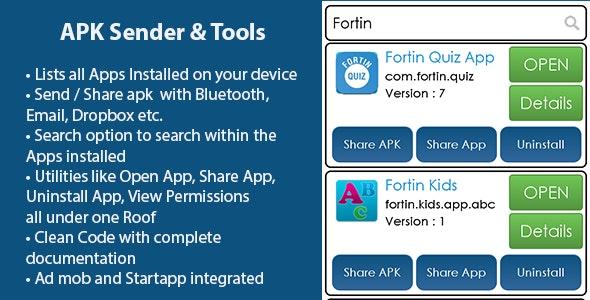 Fortin APK Sender and Tools - Utility App by mayuri2411   CodeCanyon