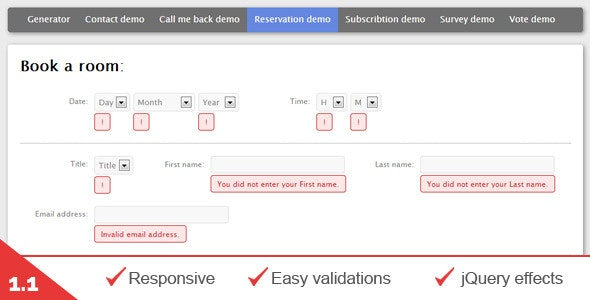 Multiple contact forms generator (AJAX + PHP) - CodeCanyon Item for Sale