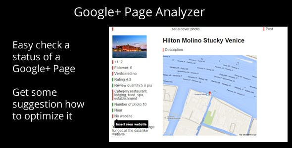 Google Plus Page Analyzer