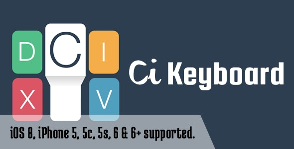 CI Keyboard (Custom iOS 8 Keyboard) - CodeCanyon Item for Sale