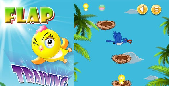 Flap Training Game With AdMob