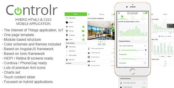 Controlr - Smart House Hybrid Application Template