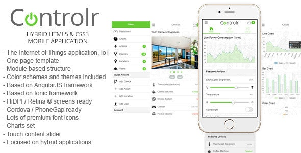 Controlr - Smart House Hybrid Application Template by