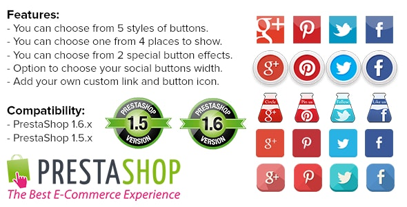 Social Media Buttons and Icons - CodeCanyon Item for Sale