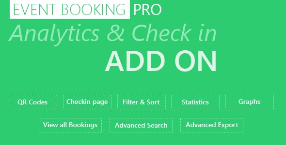 Event Booking Pro: Analytics & Checkin Addon - CodeCanyon Item for Sale