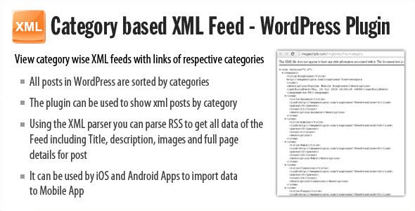 Category based XML feed - Plugin