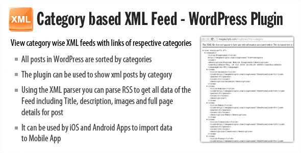 Category based XML feed - Plugin - CodeCanyon Item for Sale