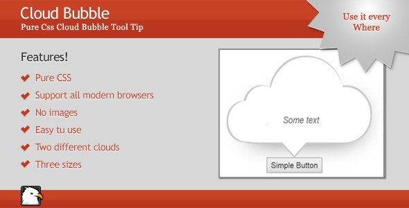 Pure CSS Cloud Bubble Tooltip - CodeCanyon Item for Sale