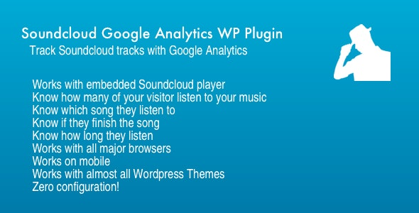Soundcloud Google Analytics WP Plugin - CodeCanyon Item for Sale