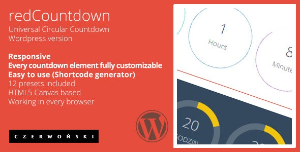 redCountdown - Circular Countdown - CodeCanyon Item for Sale