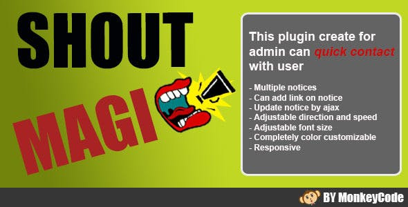 Shout Magic - Notices Slider WordPress plugin