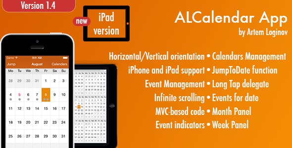 ALCalendar App (iPhone/iPad)