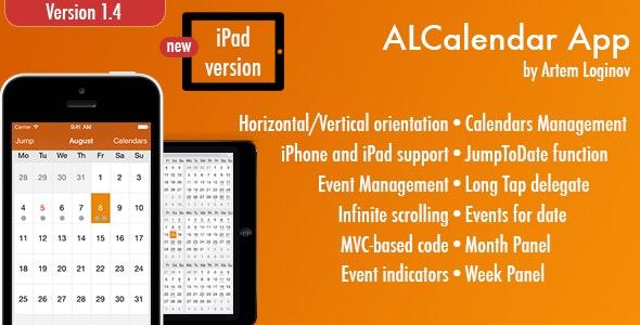 ALCalendar App (iPhone/iPad) - CodeCanyon Item for Sale