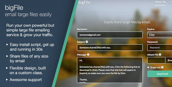 bigFile - Easily share large files by email