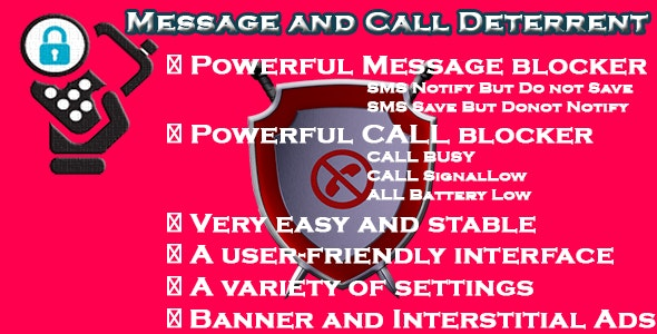 Message and Call Deterrent - CodeCanyon Item for Sale