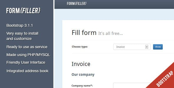 FormFiller - PDF documents creation system