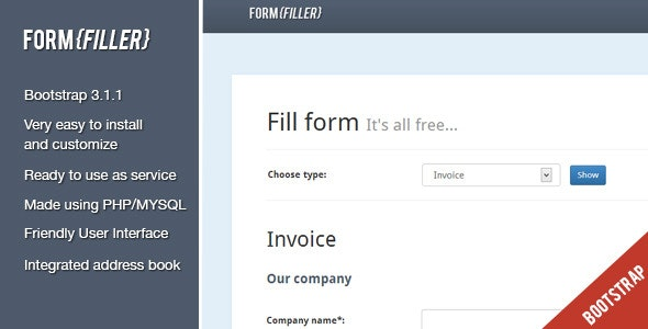 FormFiller - PDF documents creation system - CodeCanyon Item for Sale