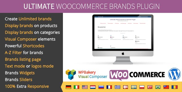 Ultimate WooCommerce Brands Plugin        Nulled