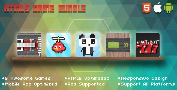 HTML5 Popular Game Bundle - CodeCanyon Item for Sale