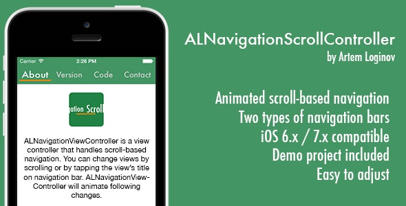 ALNavigationScroll Controller - CodeCanyon Item for Sale
