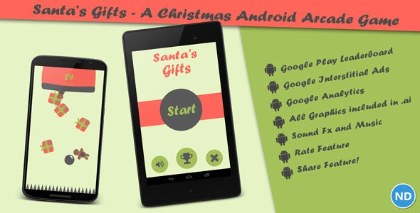 Santa's Gifts - A Christmas Android Arcade Game - CodeCanyon Item for Sale