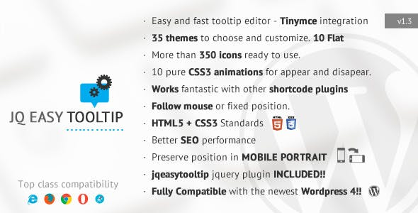 jqEasytooltip - Wordpress Tooltip Plugin