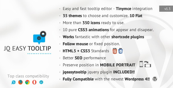 jqEasytooltip - Wordpress Tooltip Plugin - CodeCanyon Item for Sale