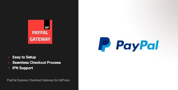 PayPal Express Checkout Gateway - AdPress Addon