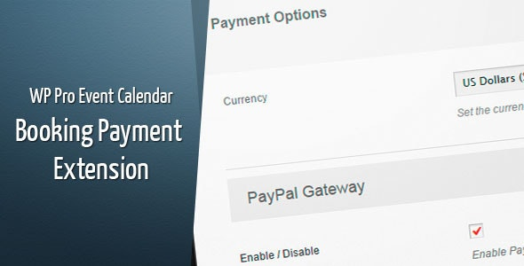 WordPress Pro Event Calendar - Payment Extension - CodeCanyon Item for Sale