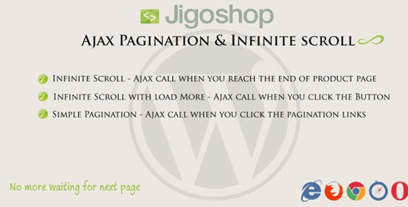 Jigoshop | Ajax Pagination & Infinite scroll