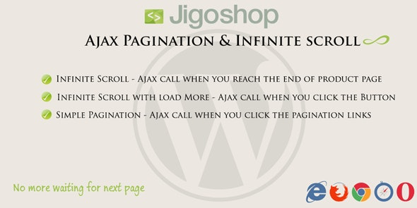 Jigoshop | Ajax Pagination & Infinite scroll - CodeCanyon Item for Sale