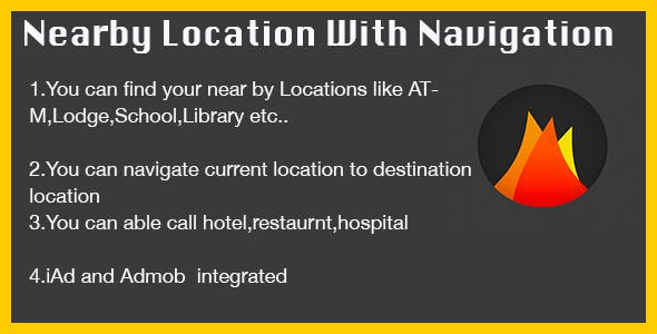 Near by location with navigation,iAd&Admob