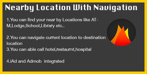 Near by location with navigation,iAd&Admob - CodeCanyon Item for Sale