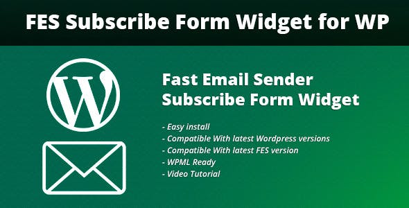 Fast Email Sender Subscribe Form Widget for WP