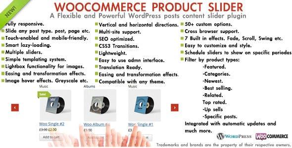 WooCommerce product slider - Post carousel plugin