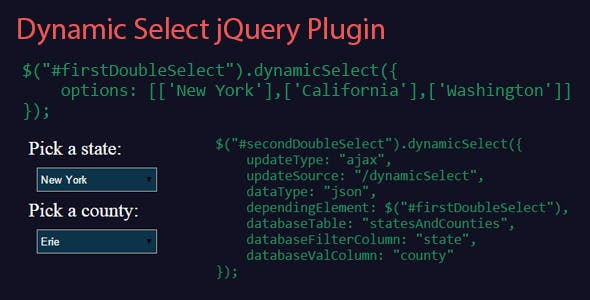 Dynamic Select jQuery Plugin