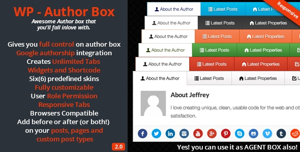 WP – Author Box - CodeCanyon Item for Sale